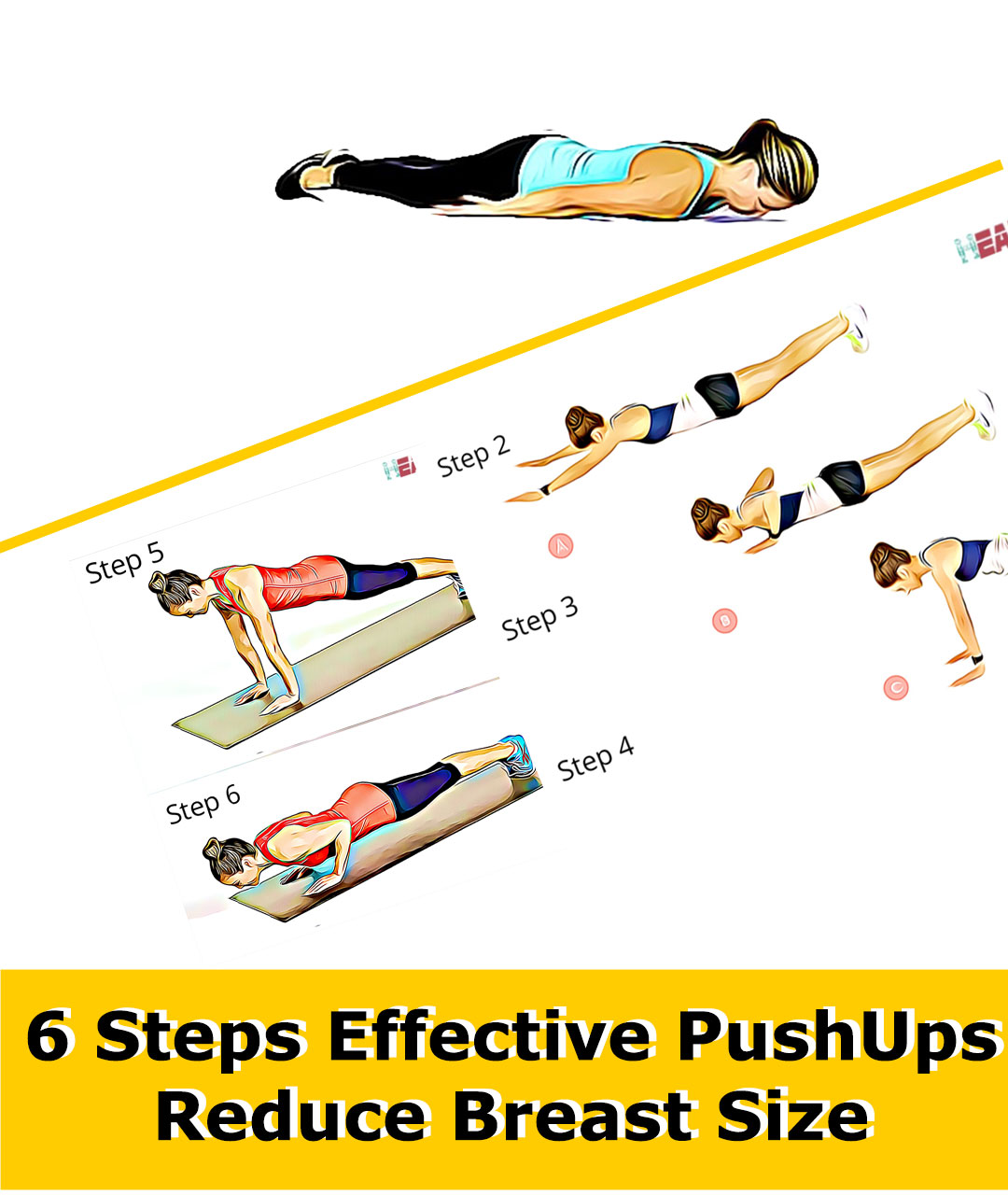 Steps to Reduce Breast Size with Pushups
