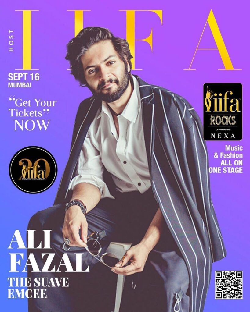 Ali Faizal Sitting on the stool - posing for IIFA Magazine cover