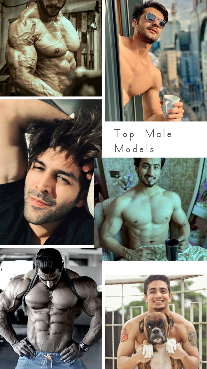 Top Male Models India - Collage of 6 male models