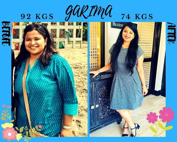 Garima Srivastava Before and After Photo Collage posing for camera
