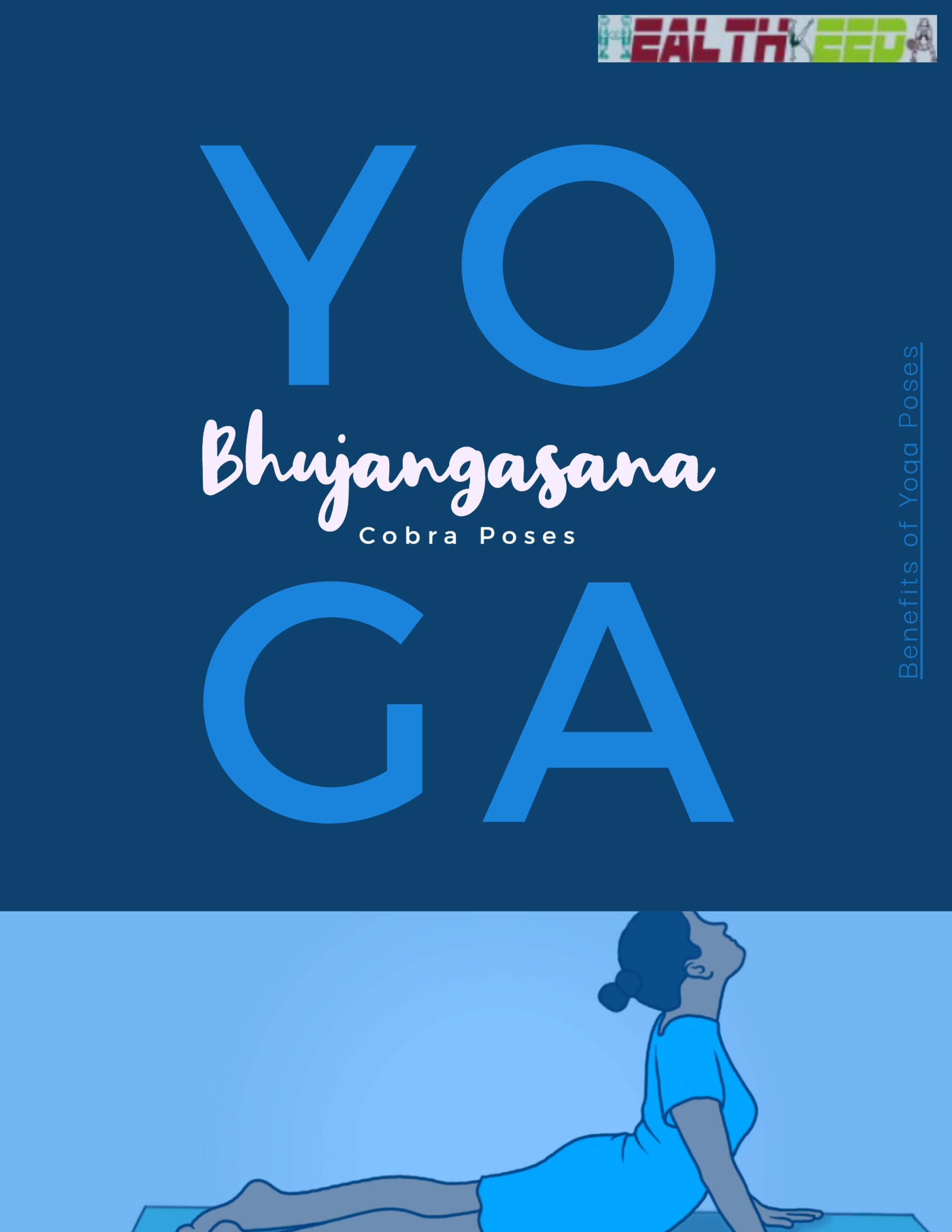 Cobra Pose Bhujangasana Yoga Creative Art Title Poster