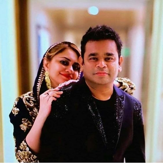 A.R. Rahman married August Born Saira Banu - both are wearing Indian attires