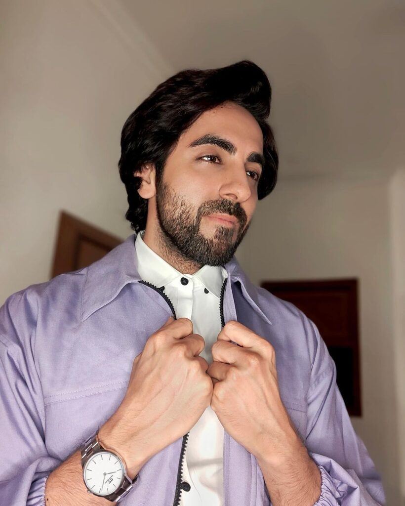 Ayushmann Khurrana Pose with Side Flick