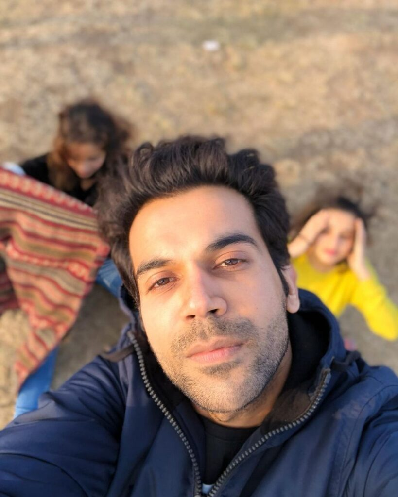 Rajkummar Rao pose with casual, relaxed look hairstyle