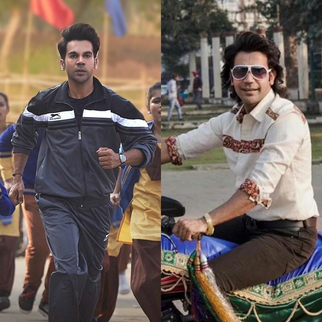 Rajkummar Rao pose with long tresses look hairstyle & sitting on bike