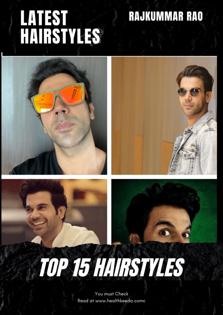 rajkummar rao hairstyles - collage hairstyle photos
