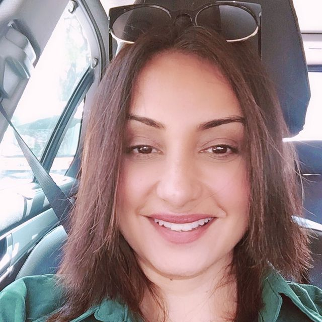 Divya Dutta - Driving Car in Green Outfit with Shades | Dental Implants