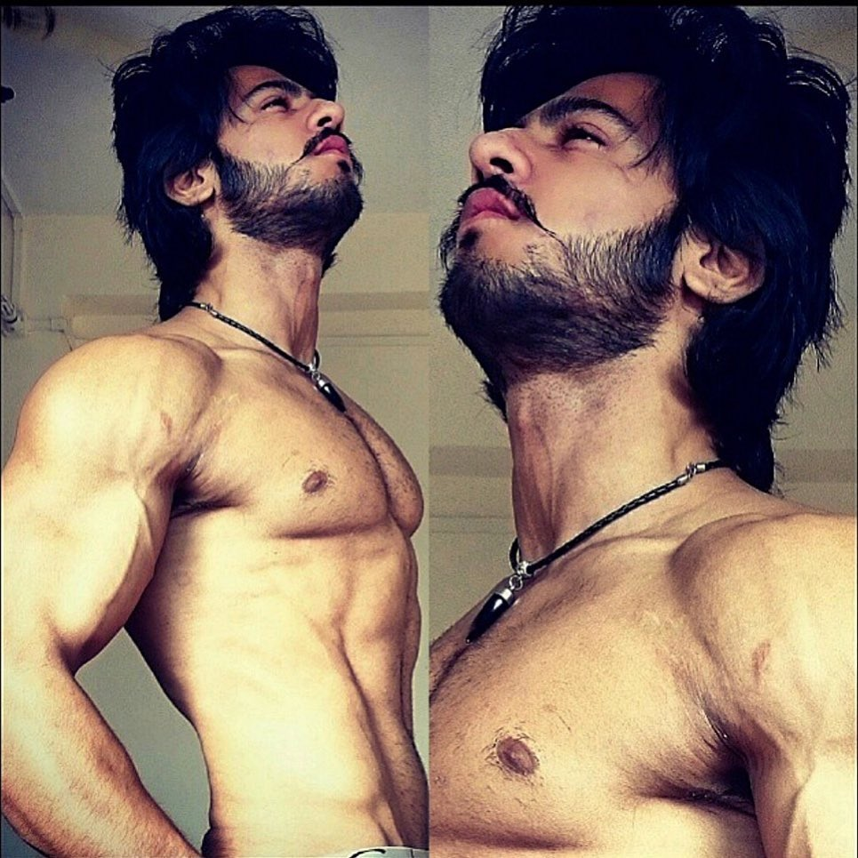 Thakur Anoop Singh - The Hot Mess  hairstyles with off shirt