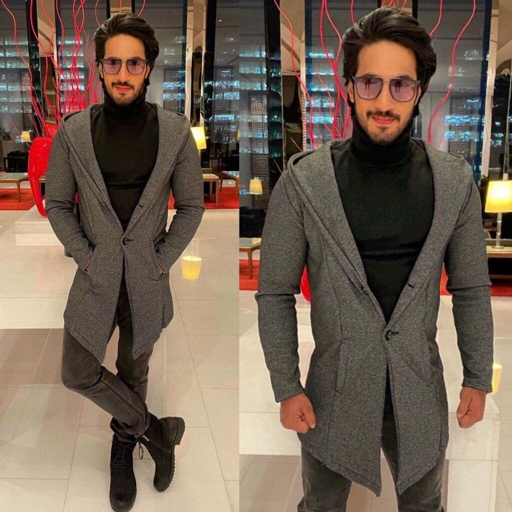 Thakur Anoop Singh - The confident  hairstyles look with black & grey outfit combination