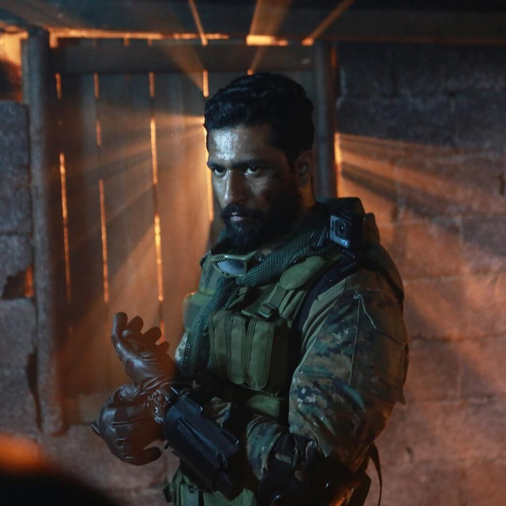 Vicky Kaushal posing in Army dress with man of duty look