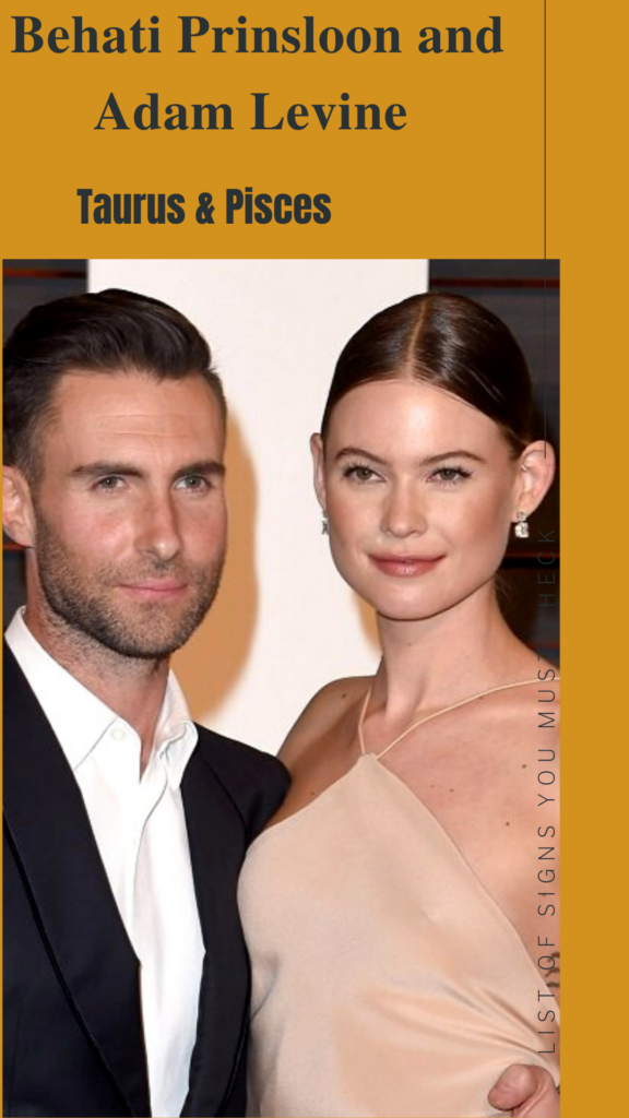 Behati Prinsloo (Taurus) and Adam Levine (Pisces) - Pisces Compatibility Signs