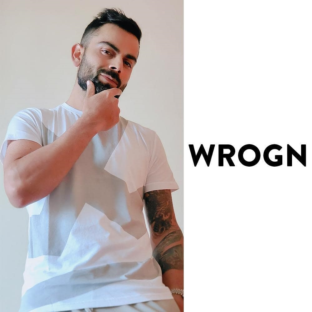 Young Virat hairstyle & wear white tshirt