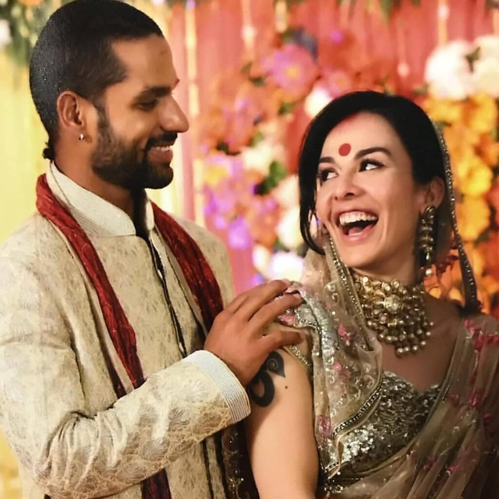 Shikhar Dhawan is Posing with his Ex-wife Aesha Mukherjee - Indian cricketers who got divorce