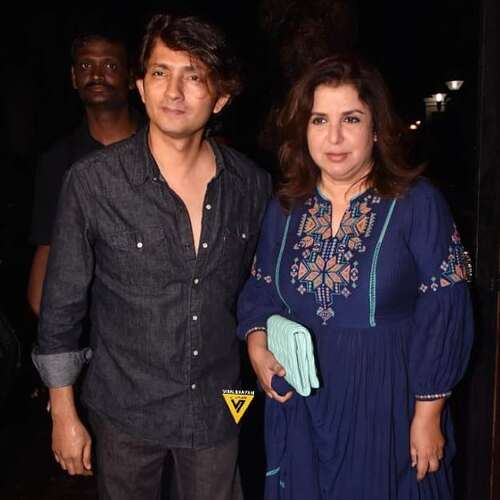 Farah Khan with husband Shirish Kunder posing for camera - Indian celebrities Who Tied the Knot With Older Women
